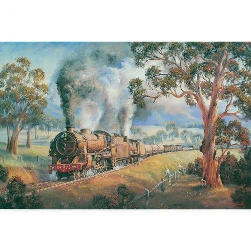 A Friendly Wave Train Painting by John Bradley