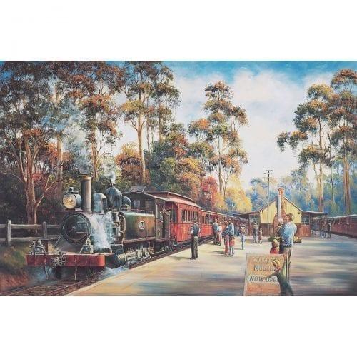All Aboard Train Art by John Bradley
