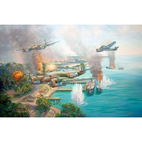 Beaufighter Blitz Painting by John Bradley