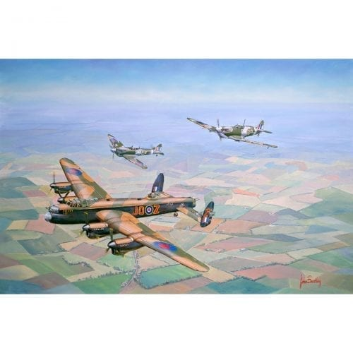 Bring Home the Straggler War Plane Painting John Bradley