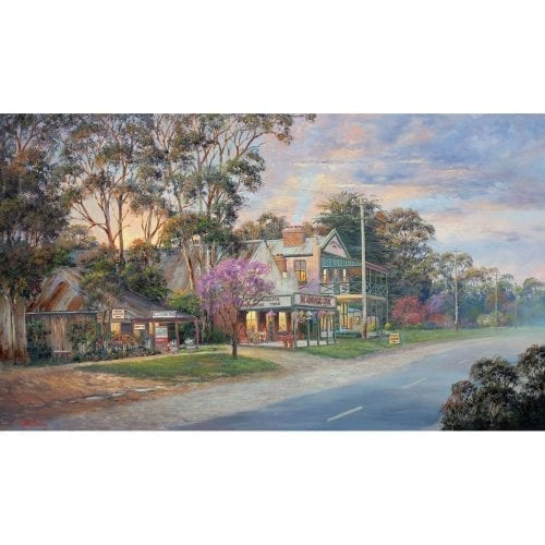 Close of Day in Gundaroo painting John Bradley