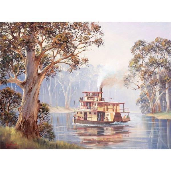 Emmy Lou Steam Boat Art by John Bradley