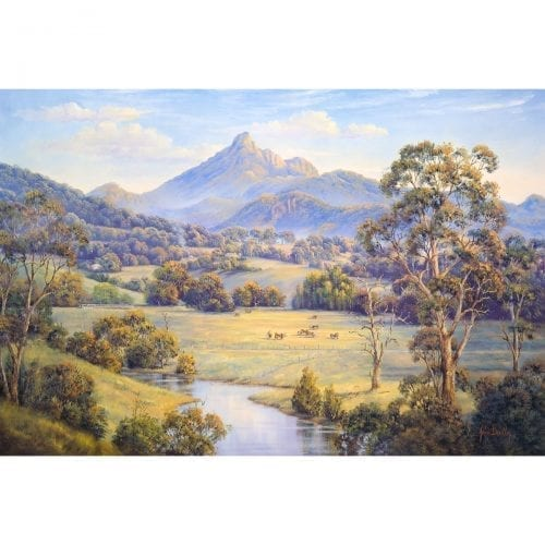 Mt Warning art by John Bradley