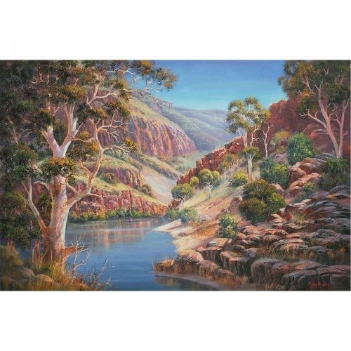 Ormiston Gorge painting John Bradley