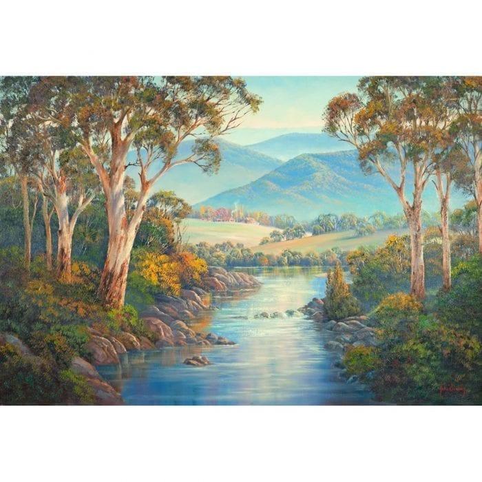 Ovens Valley Autumn Art John Bradley