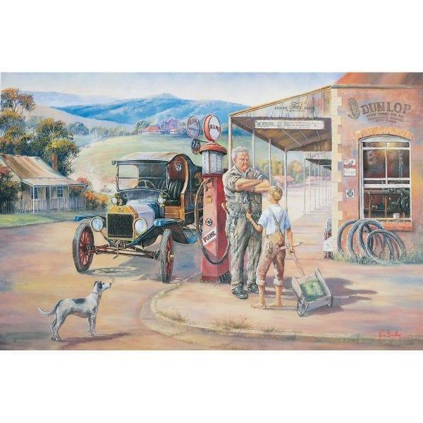 Running Repairs Period Painting John Bradley