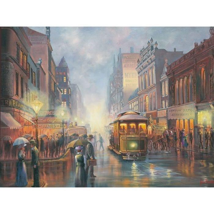 Sydney by Gaslight painting John Bradley