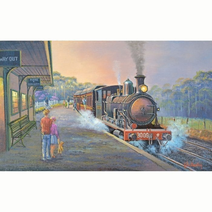 Up From the Big Smoke Train Painting by John Bradley