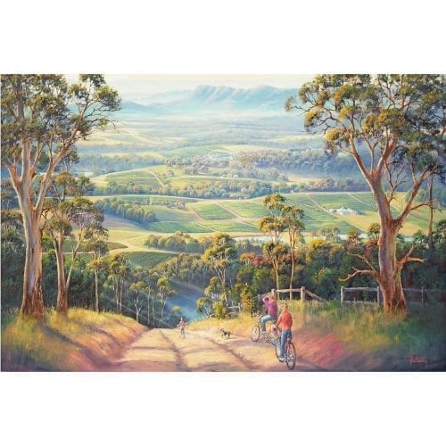 Vineyards Hunter Valley Painting John Bradley