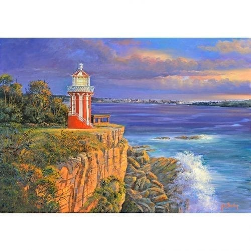 Red Lighthouse Art painting John Bradley