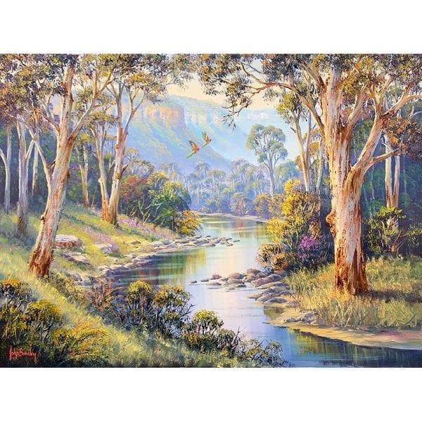 River Scene Painting John Bradley