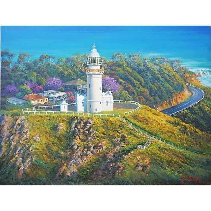 White Lighthouse with Jacaranda John Bradley
