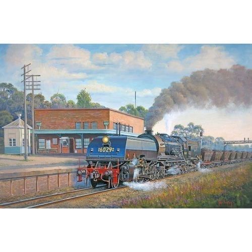 Coal To Newcastle Train Painting John Bradley