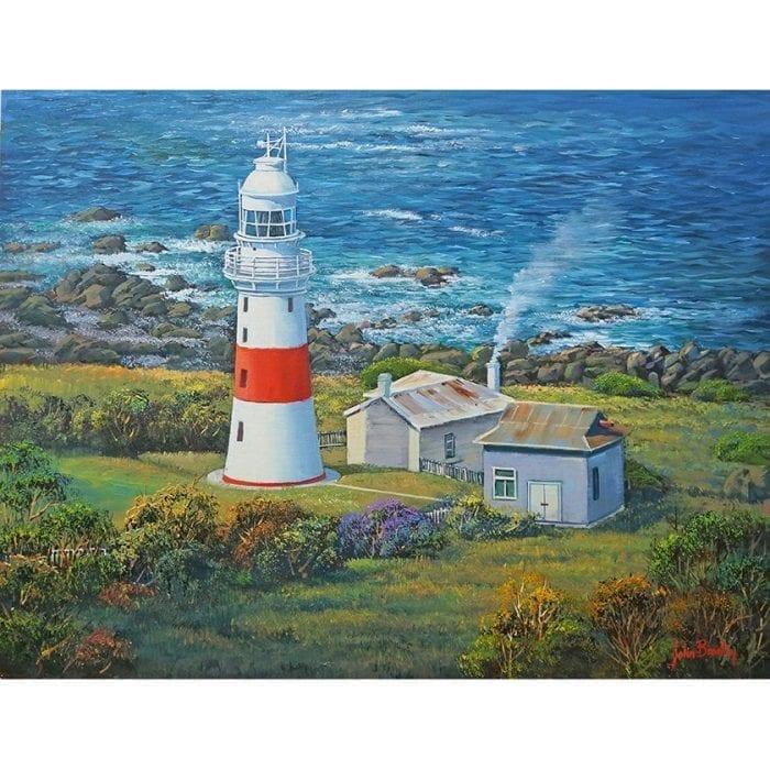 Low Head Lighthouse Oil Painting John Bradley