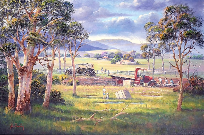 Bogged. Landscape painting by John Bradley