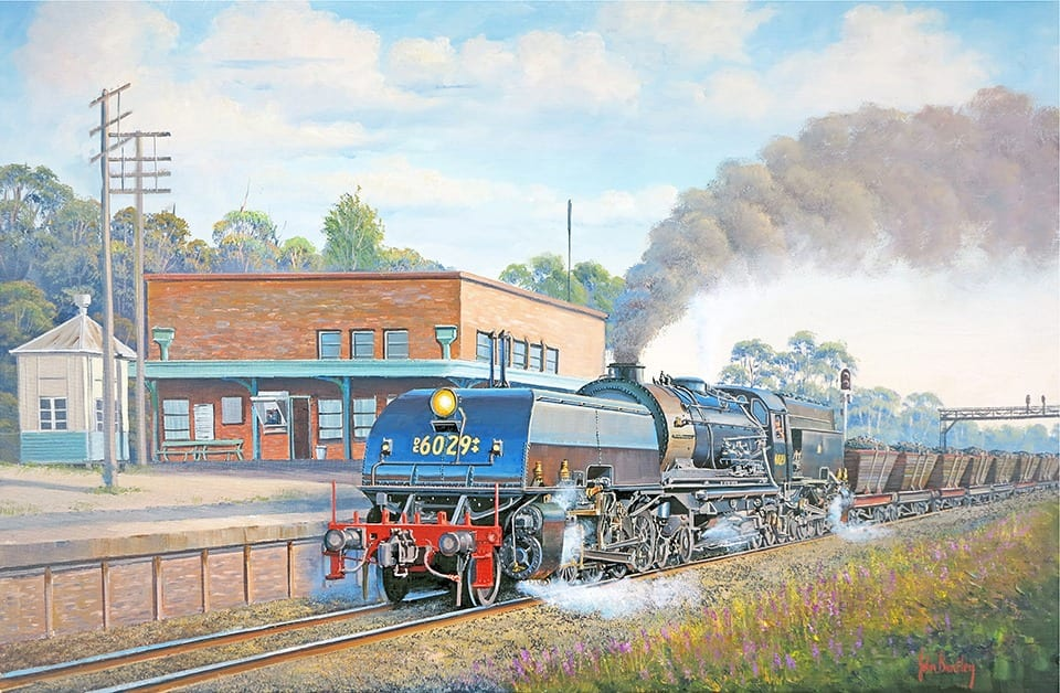 Coal to Newcastle painting by John Bradley