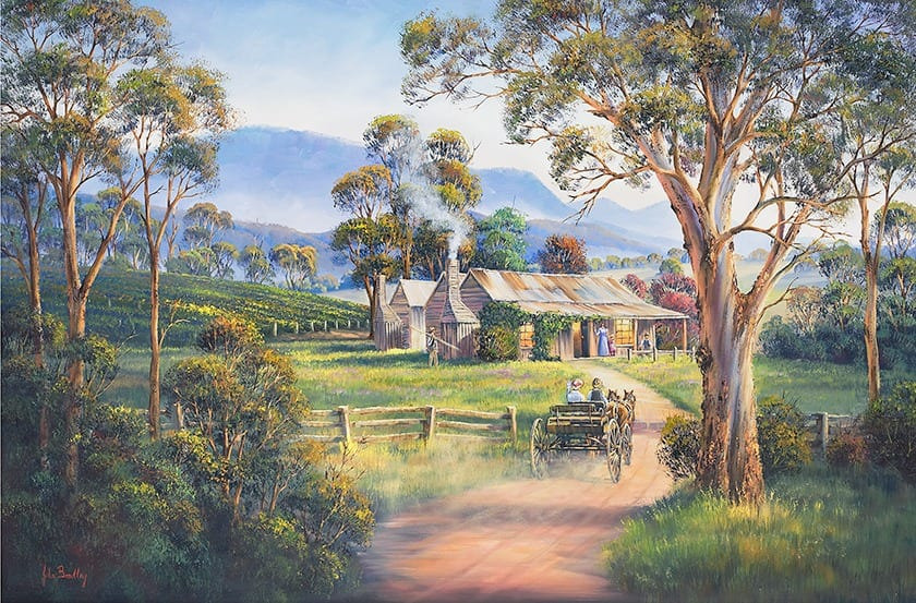 Early Days Painting by John Bradley