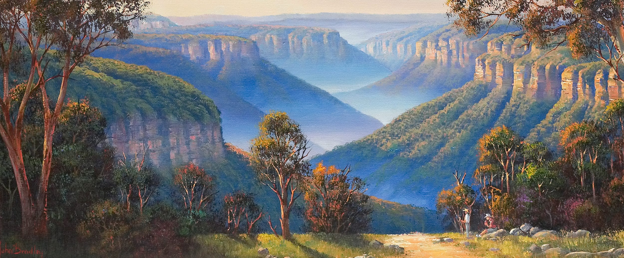 John Bradley Oil Painting Blue Mountains