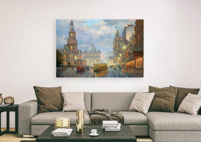 Special edition canvas Evening Showers John Bradley
