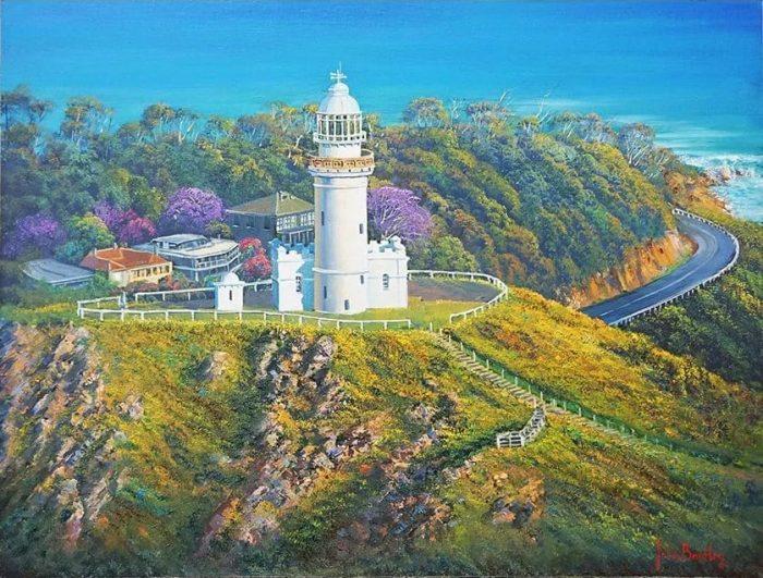 afternoon light - cape byron lighthouse john bradley