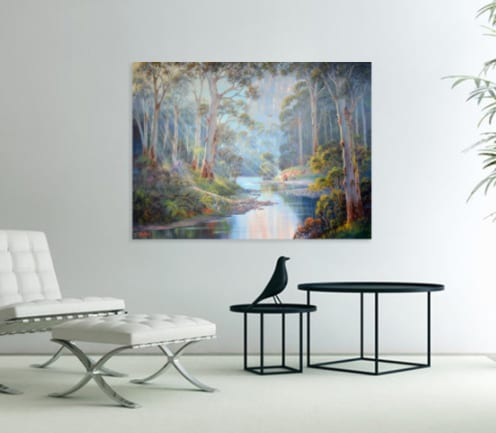 morning in bluegum forest John Bradley canvas