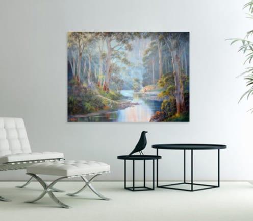 morning in bluegum forest John Bradley canvas