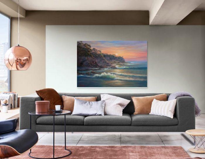 South Coast Sunrise John Bradley Canvas