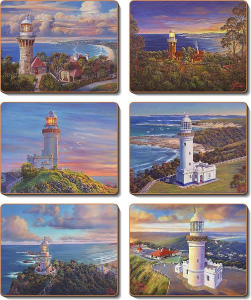 Coasters and placemats Lighthouse coastal series John Bradley