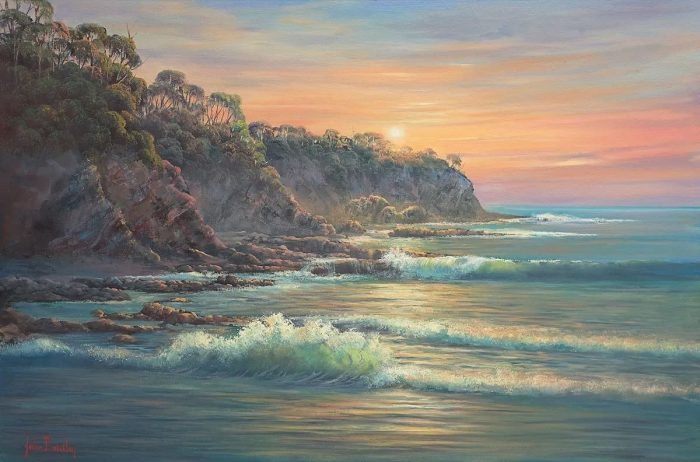 South Coast Sunrise Painting John Bradley