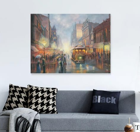 Sydney by Gaslight John Bradley canvas