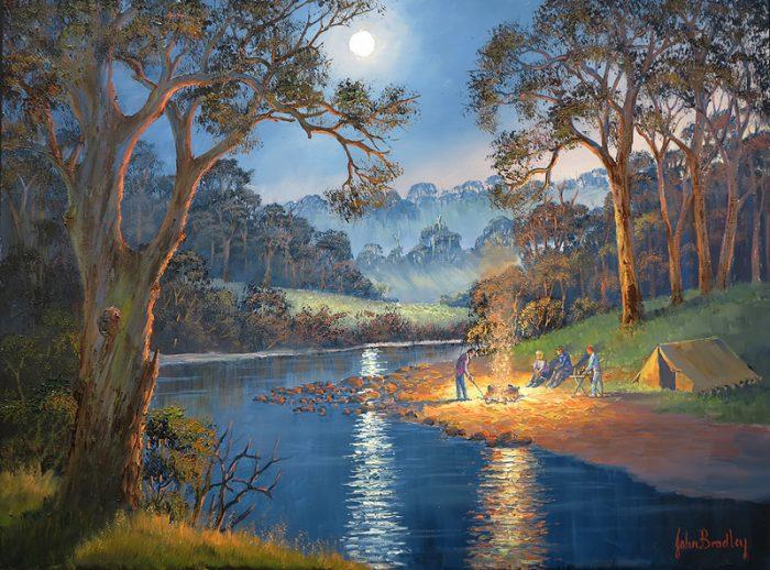 John Bradley how to paint the Night Scene