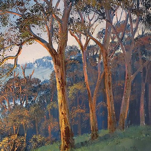 john-John Bradley how to paint trees by firelight