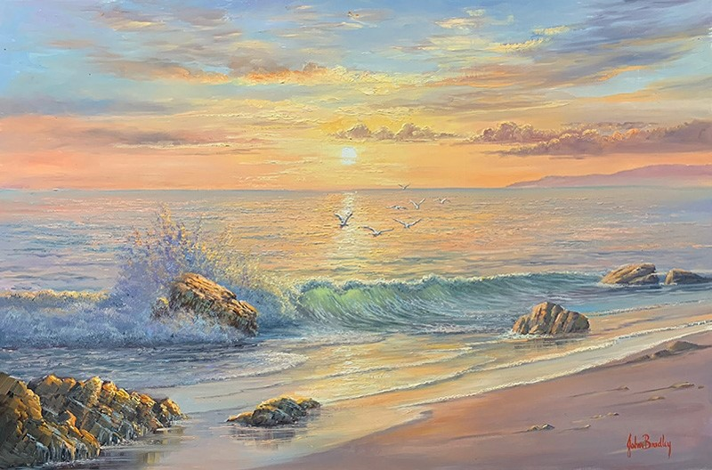 John bradley How to paint the Coastal Sunrise