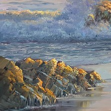 John Bradley how to paint dramatic rocks in the sea