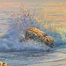 John Bradley how to paint rocks in the ocean