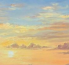 John Bradley how to paint a sunrise sky