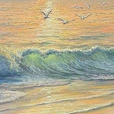 John Bradley how to paint waves
