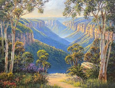 John Bradley How to Paint a Blue Mountains Scene
